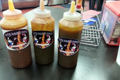 Sauce choices.